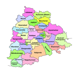 Telangana New Map